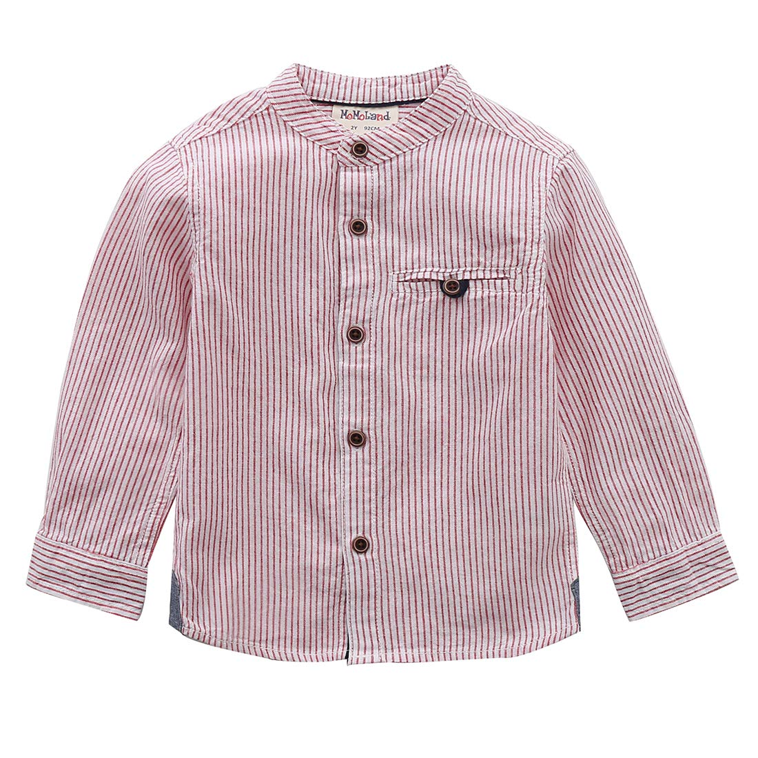 Toms Ware Mens Classic Slim Fit Banded Collar Button Down