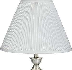 White Mushroom Pleated Empire Lamp Shade 7x16x12 (Spider) - Springcrest