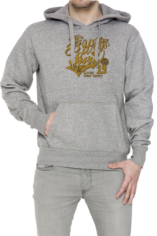 83 Ways To Surf Gris Algodón Hombress Sudadera Sudadera Con Capucha Pullover Grey Men's Sweatshirt Pullover Hoodie