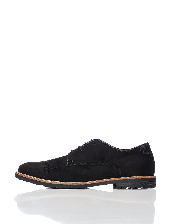 Marca Amazon - find. Zapatos Estilo Derby de Serraje para Hombre