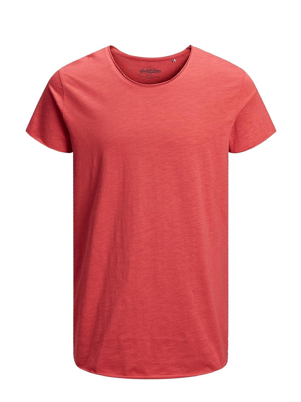 JACK & JONES Herren T-Shirt Jjebas Tee Ss U-Neck Noos 12136679