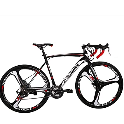 Eurobike Road Bike 700C Wheels 21 Speed Disc Brake Bicycle 54cm/Medium Frame Size (3 Spoke Wheels) best racing bikes