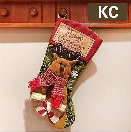 Calcetín de Navidad Candy calcetines de regalo decoración de árbol de Navidad personalizada para niños (