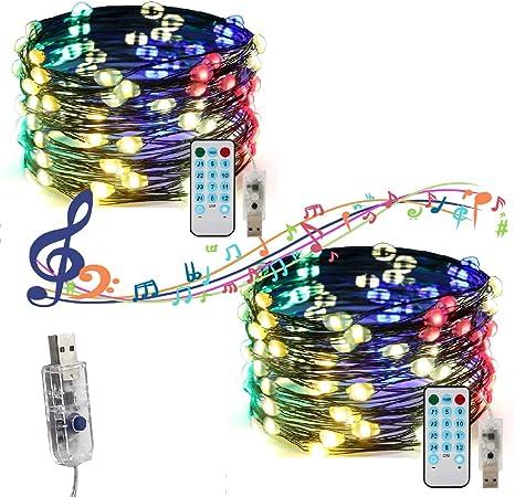 8m Multi Action Bright Warm White Rope light Xmas Christmas Battery Powered