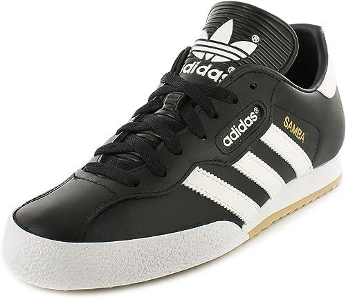 Adidas Samba Super Schwarz Textil Leder Hallenfußball Turnschuhe Schwarzweiß UK GRÖßEN 6 12