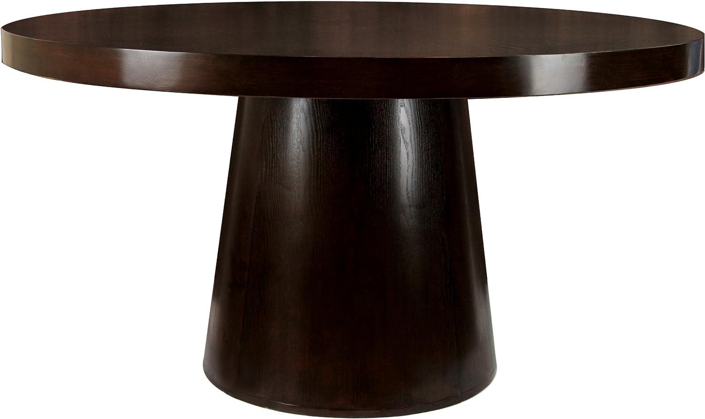 Furniture of America Primrose Round Dining Table, Espresso