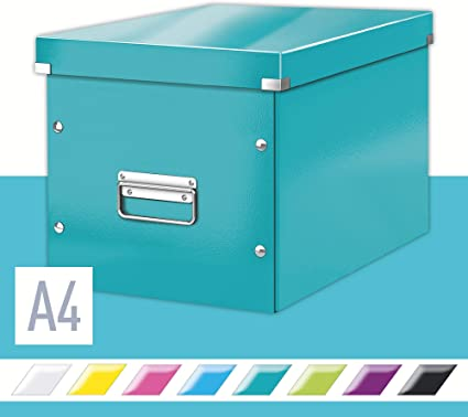 Leitz Caja de almacenaje cúbica, Tamaño grande, Turquesa, Click ...
