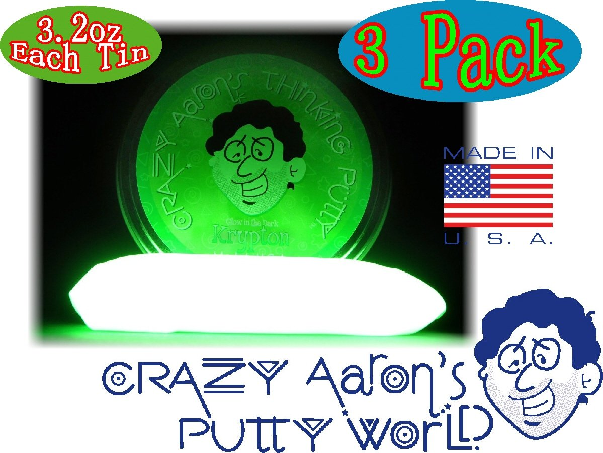 Crazy Aaron's Thinking Putty Strange Attractor, Liquid Glass & Krypton Bundle Gift Set - 3 Pack by Crazy Aaron's (Image #4)