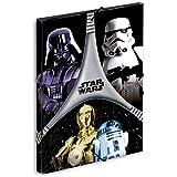 Star Wars - Carpeta gomas, color negro y gris (Montichelvo 40725)