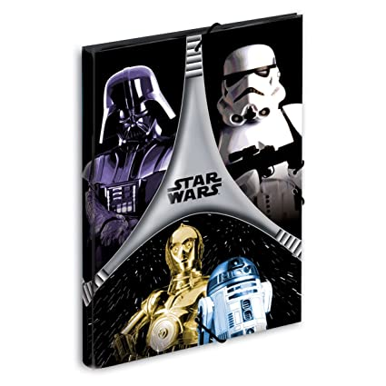 Star Wars - Carpeta gomas, color negro y gris (Montichelvo 40725)
