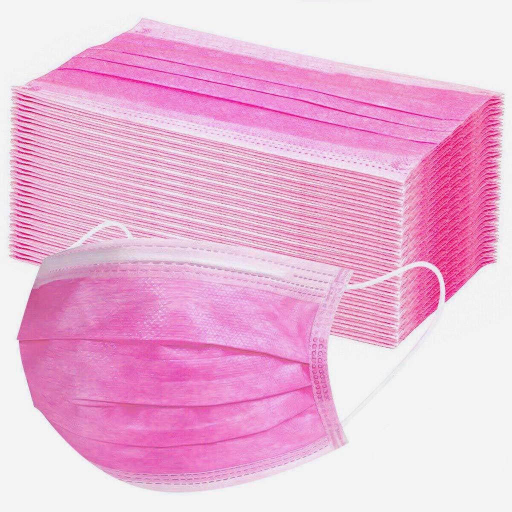 10Piezas Rosado Adulto Protecci/ón,para 3 Capas Transpirables con El/ástico para Los O/ídos
