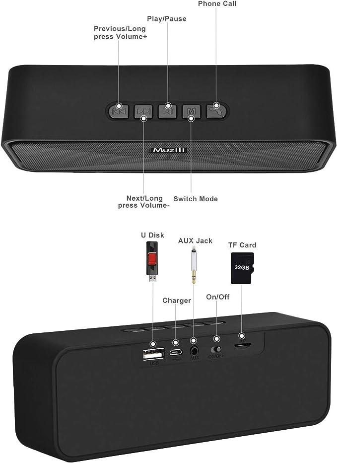 Altavoz Bluetooth Portátil, Altavoces Bluetooth Inalámbrico ...