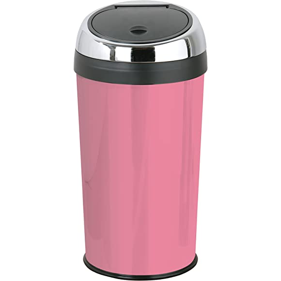 Premier Housewares Baby Pink Push Top Bin 30 Litre