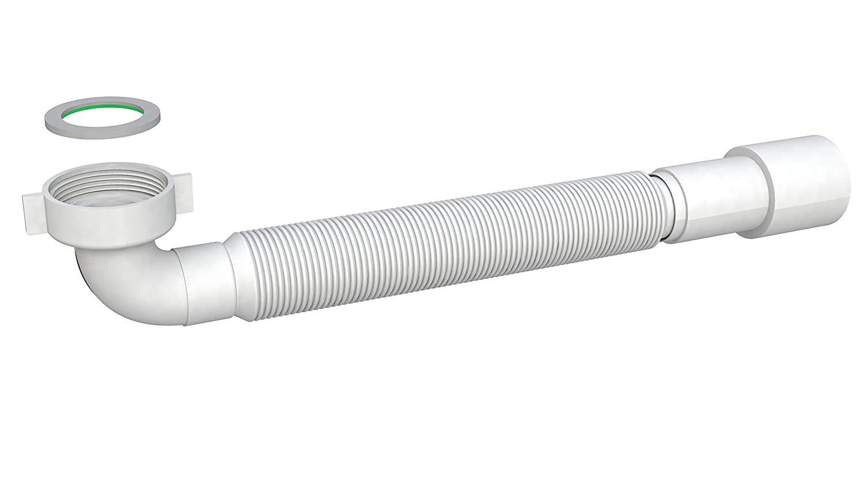 Tuyau de vidange flexible 1 1/4' - Gaine d'écoulement pour lavabo, 5/4, Ø 32 mm/40 mm - Montage facile sans outil - Extensible de 400-850 mm Ø 32 mm/40 mm - Montage facile sans outil - Extensible de 400-850 mm FamousBath