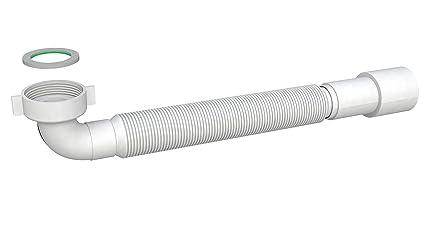 Tubo Scarico Lavandino Flessibile.Tubo Di Scarico Flessibile 1 1 4 Sifone Salvaspazio Tubo Di