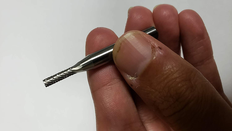Flat End 2 OAL 1//8 Cut Diam 1//2 Cut Length Industry Spec SA-11-F Cylinder Carbide Fine Diamond Cut Burr 1//4 Shank Diam