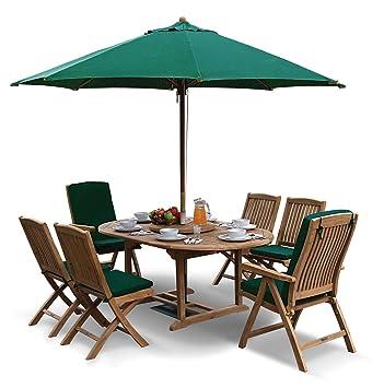 Amazon De Lorenzo Teak Gartentisch Klapptisch Und Stuhle Set 2
