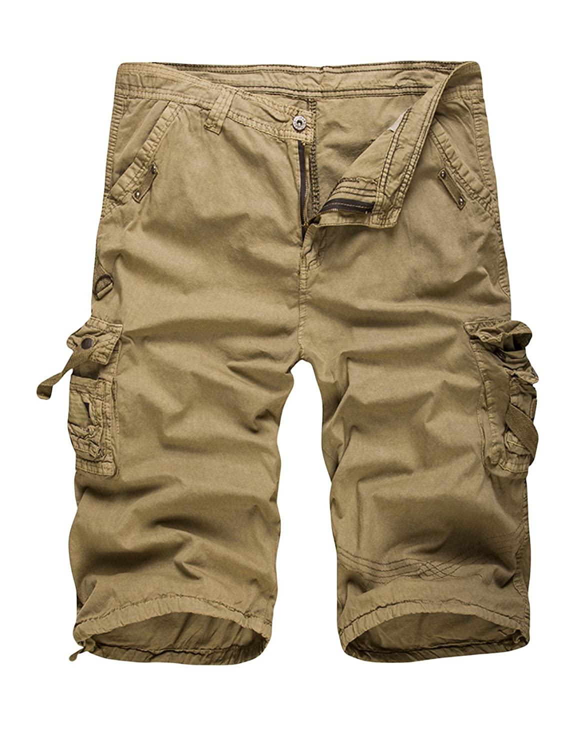 newrong Men's Casual Cargo Shorts Multi Pockets XZMYNC0493