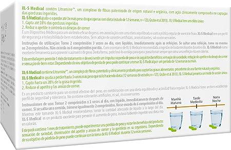 XL-S Medical Captagrasas para Perder Peso - Capta 28% de la Grasa Ingerida1 - Comprimidos para Adelgazar - 180 Comprimidos, 1 Mes de Tratamiento