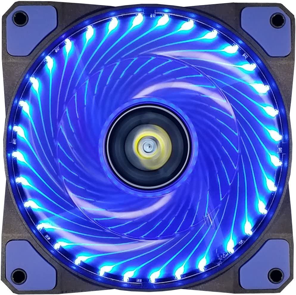 CONISY 120 mm Computer Case Cooling Fan Ultra Quiet LED PC Gaming High Airflow Fans (Blue)