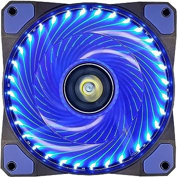 Ventilador de PC,CONISY 120 mm LED Gaming Ultra Silencioso Ventiladores para Caja de Ordenador (Azul): Amazon.es: Informática
