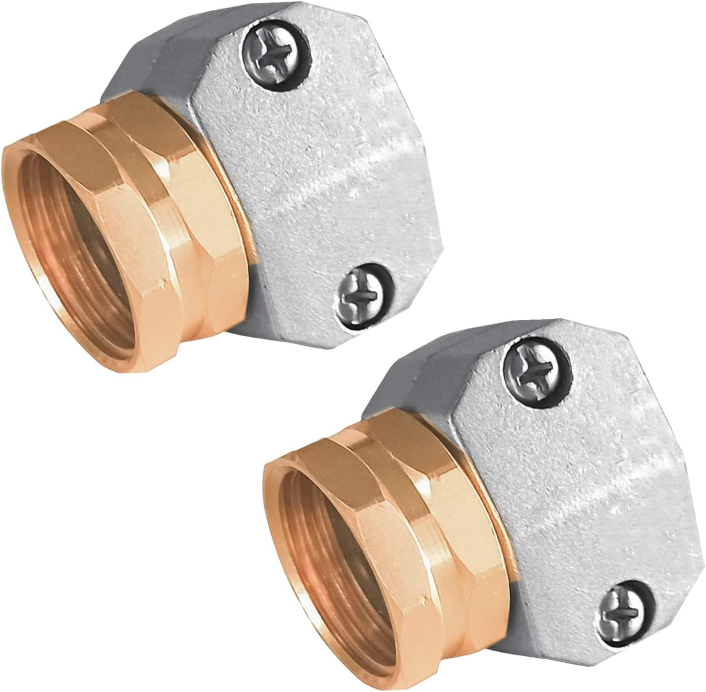 Hourleey Garden Hose Repair Fittings, Zinc and Aluminum Male and Female Hose End Water Hose Repair Connector (2 Female)