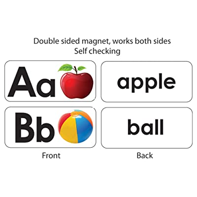 ASHLEY PRODUCTIONS ABC Picture Words Double-Sided Magnets: Toys & Games [5Bkhe0904343]