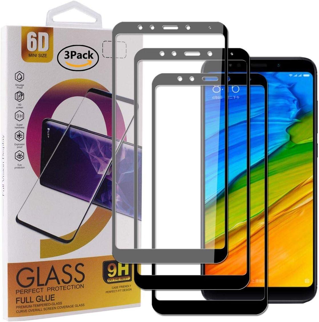 Guran [3 Paquete Protector de Pantalla para Xiaomi Redmi 5 Plus Smartphone Cobertura Completa Protección 9H Dureza Alta Definicion Vidrio Templado Película: Amazon.es: Electrónica