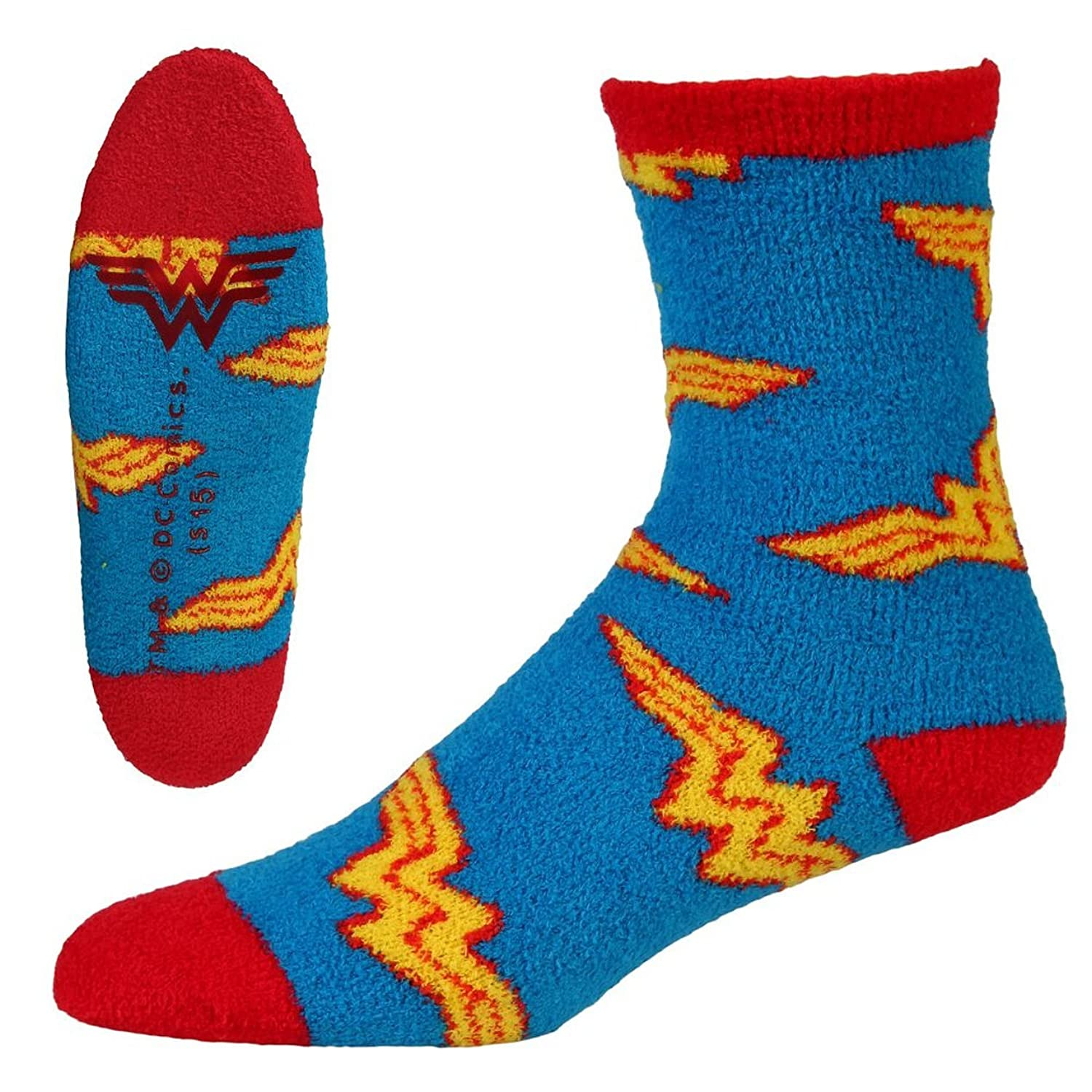 Amazon Wonder Woman Logo Adult Slipper Socks Multi e Size 5