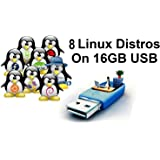Linux Collection – 8 Linux Operating Systems on 16 GB USB: Ubuntu, Mint, Debian, OpenSuse, Magia, Elementary, Bodhi & Zorin! 64Bit