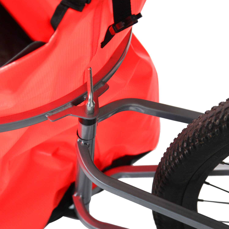 Peach Tree Pet Dog Bike Bicycle Trailer Cargo Stroller Jogger w/Orange Bag by Peachtree Audio (Image #7)