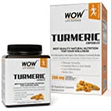 Wow Turmeric 200 Mg Vegetarian Capsules - 60 Count