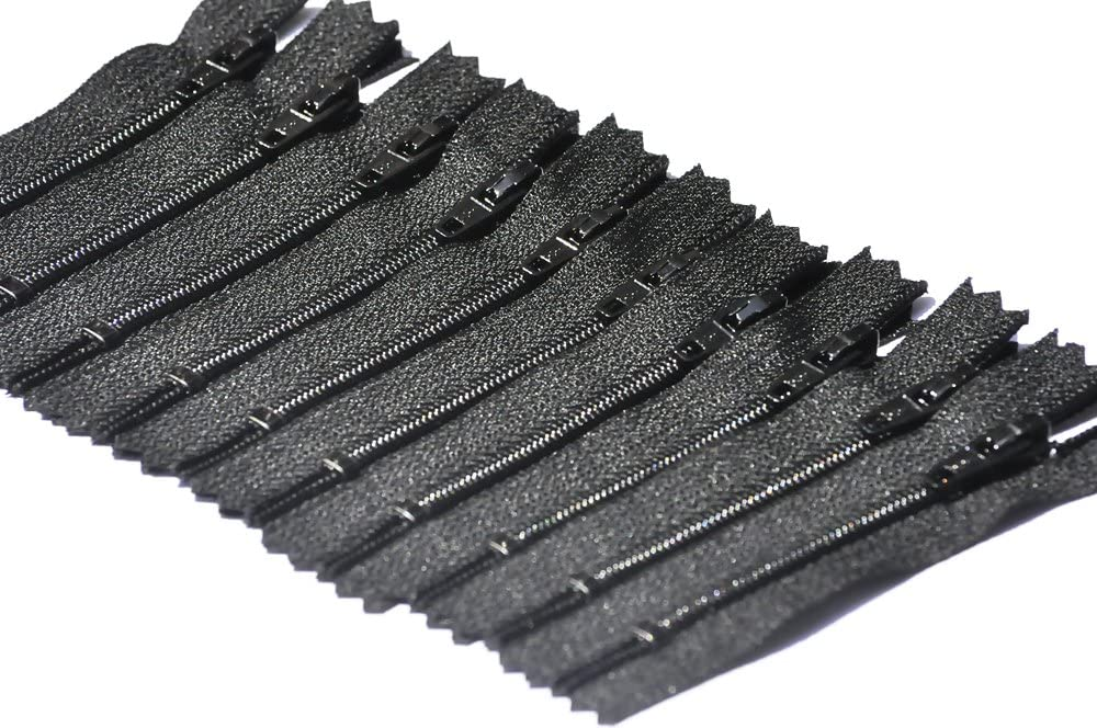 "Lot of 100 6/"" Black Nylon Zippers Bulk for Sewing commercial wholesale 6 inch"