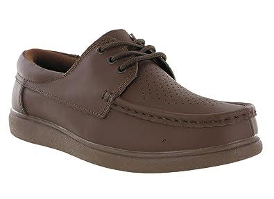 Dek Unisex Lace Up Official Original Bowling Shoes Grey Leather