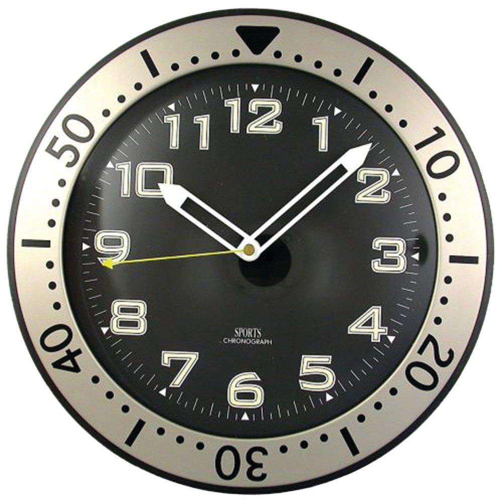Amazon timekeeper 515bb 12round chronograph design wall clock amazon timekeeper 515bb 12round chronograph design wall clock sports outdoors amipublicfo Gallery