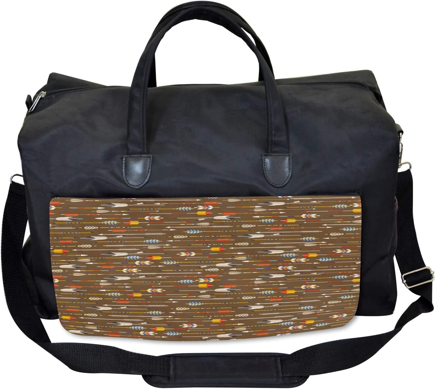 Ethnic Eastern Style Ambesonne Colorful Gym Bag Large Weekender Carry-on