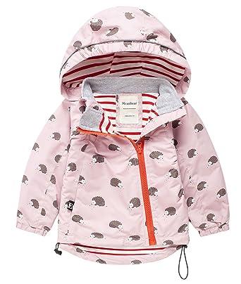 Meanbear - Chaqueta Outdoor con Capucha Sombrero para Niños Resistente a Agua Lindo Estampado Floral Abrigo Invierno Otoño