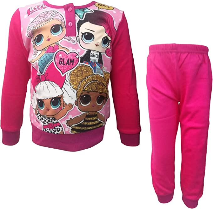 Lol Surprise Pijama niña largo en cálido algodón Art. 18-184 fucsia 3 años: Amazon.es: Ropa y accesorios