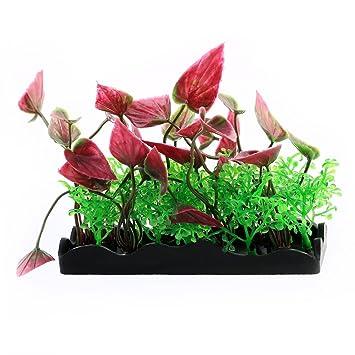 sourcing map Pecera plástico Planta Artificial decoración Floral Espacio de Aterrizaje Tricolor 4 Ordenadores.: Amazon.es: Productos para mascotas