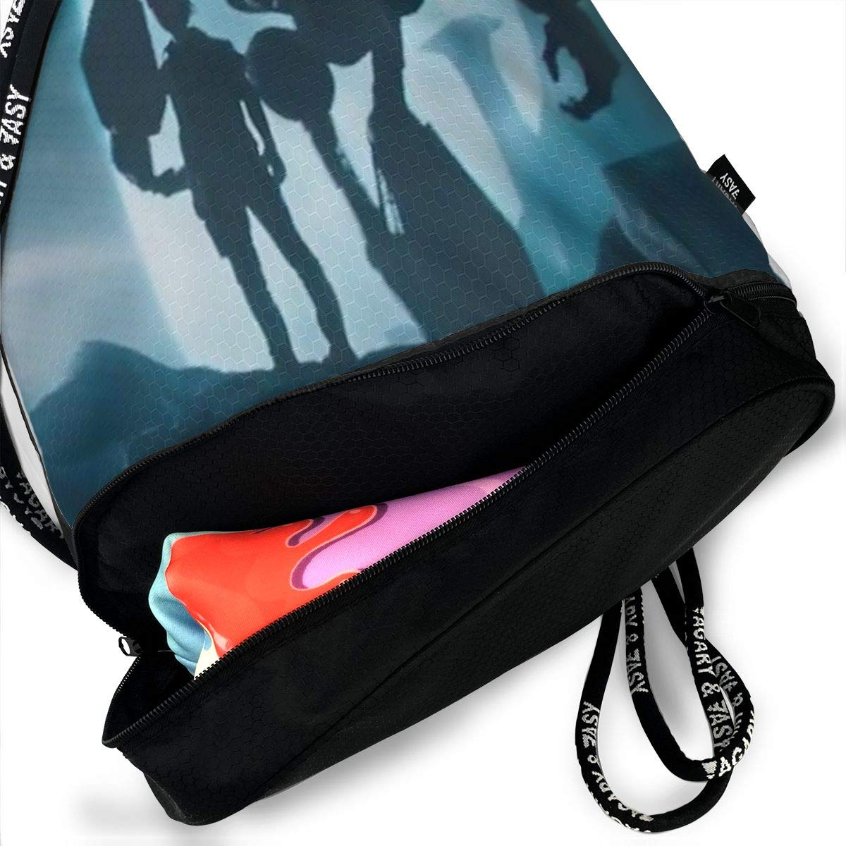 Zol1Q Iron Giant Drawstring Bag for Men /& Women Large Storage Waterproof Cinch Backpack Sackpack Tote Sack for Gym Travel