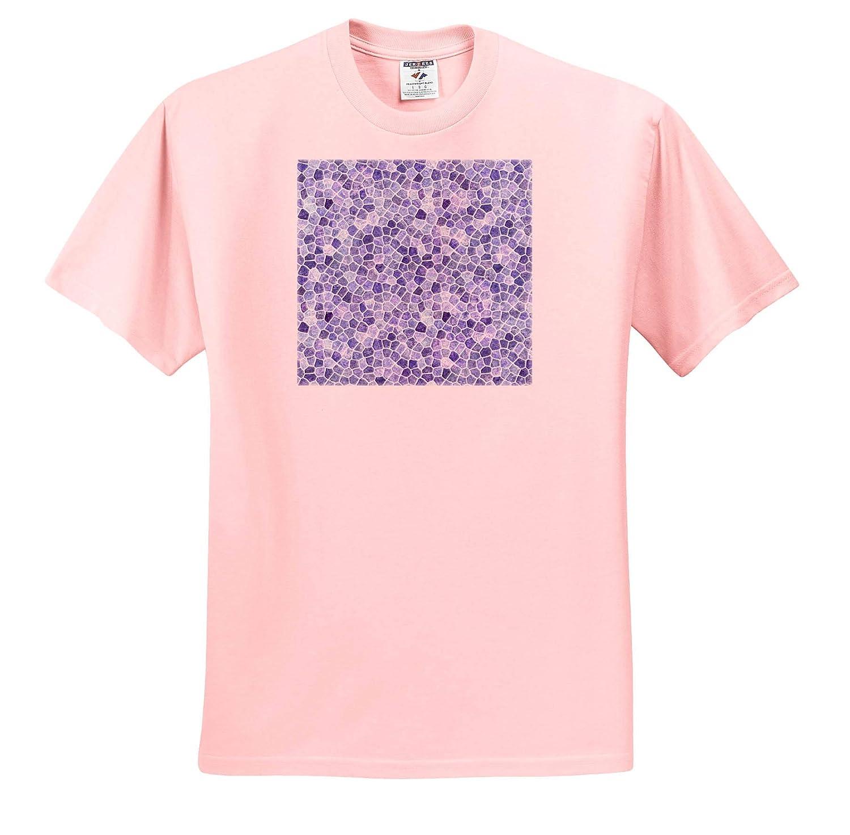Pale Blue Cobbled Patchwork Irregular Pattern Seamless Pattern Design 3dRose Taiche Adult T-Shirt XL ts/_308665