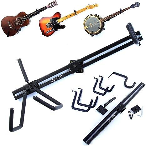 Soporte de pared horizontal para guitarras eléctricas, acústicas ...