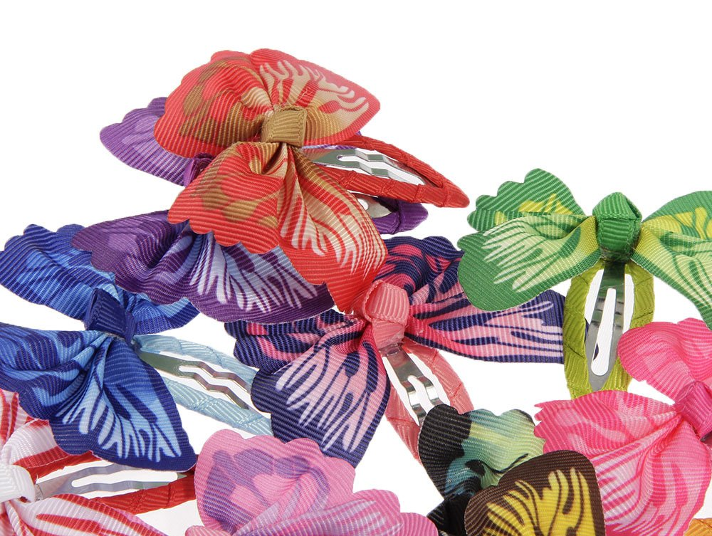 lovinglove Chiffon Flower Hair Bow Clips For Teens Toddlers Kids Children (10 Butterflies) by lovinglove (Image #3)