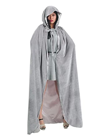 Amazon.com  AW Adult Hooded Cloak Velvet Robe Cape for Halloween Cosplay  Christmas Costumes Unisex  Clothing 2a08f05b0