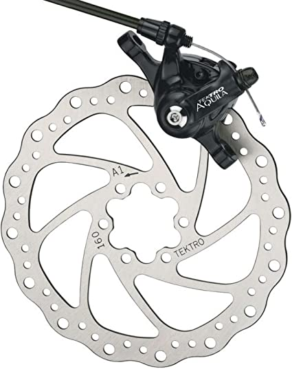 Tektro Aquila MTB Bicycle Disc Brake w//180mm Rotor Black /& Front Adapter Bike
