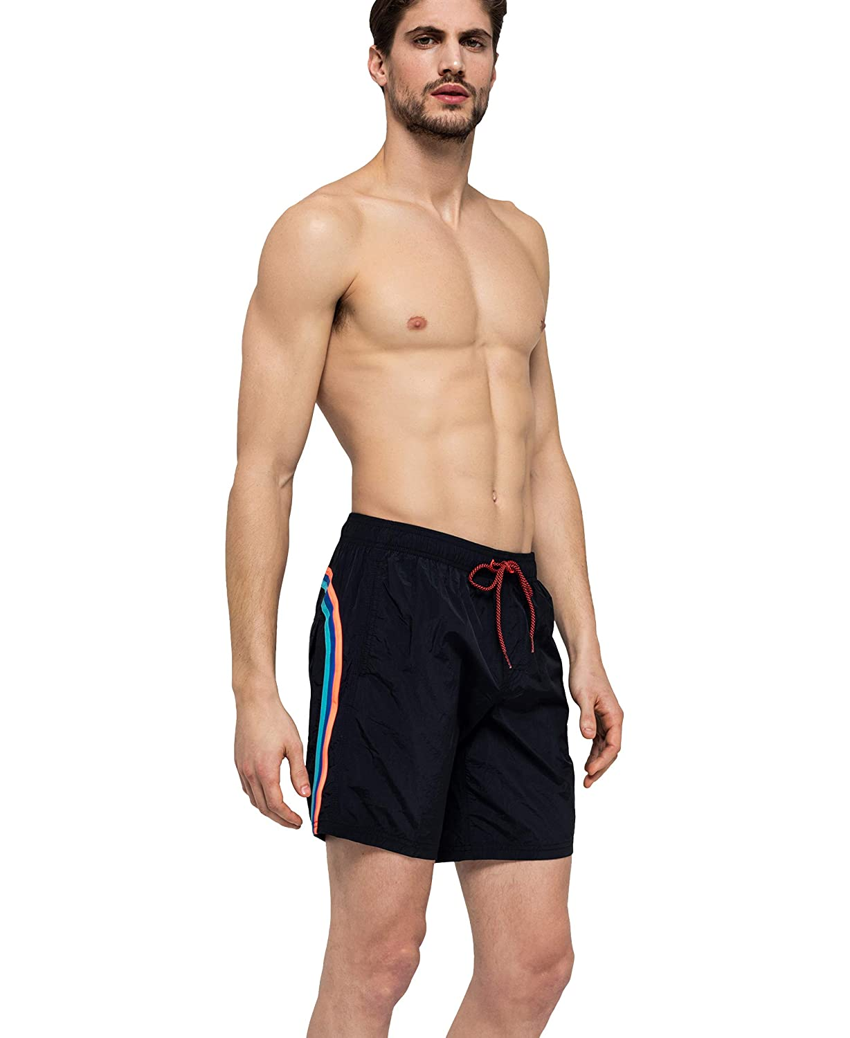 Rainbow ON The Back 16 Long Elastic Waist Sundek Classic Mens Shorts