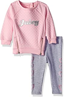 48593b493 Juicy Couture Baby Girls 2 Pieces Tunic Legging Set -Faux Fur ...