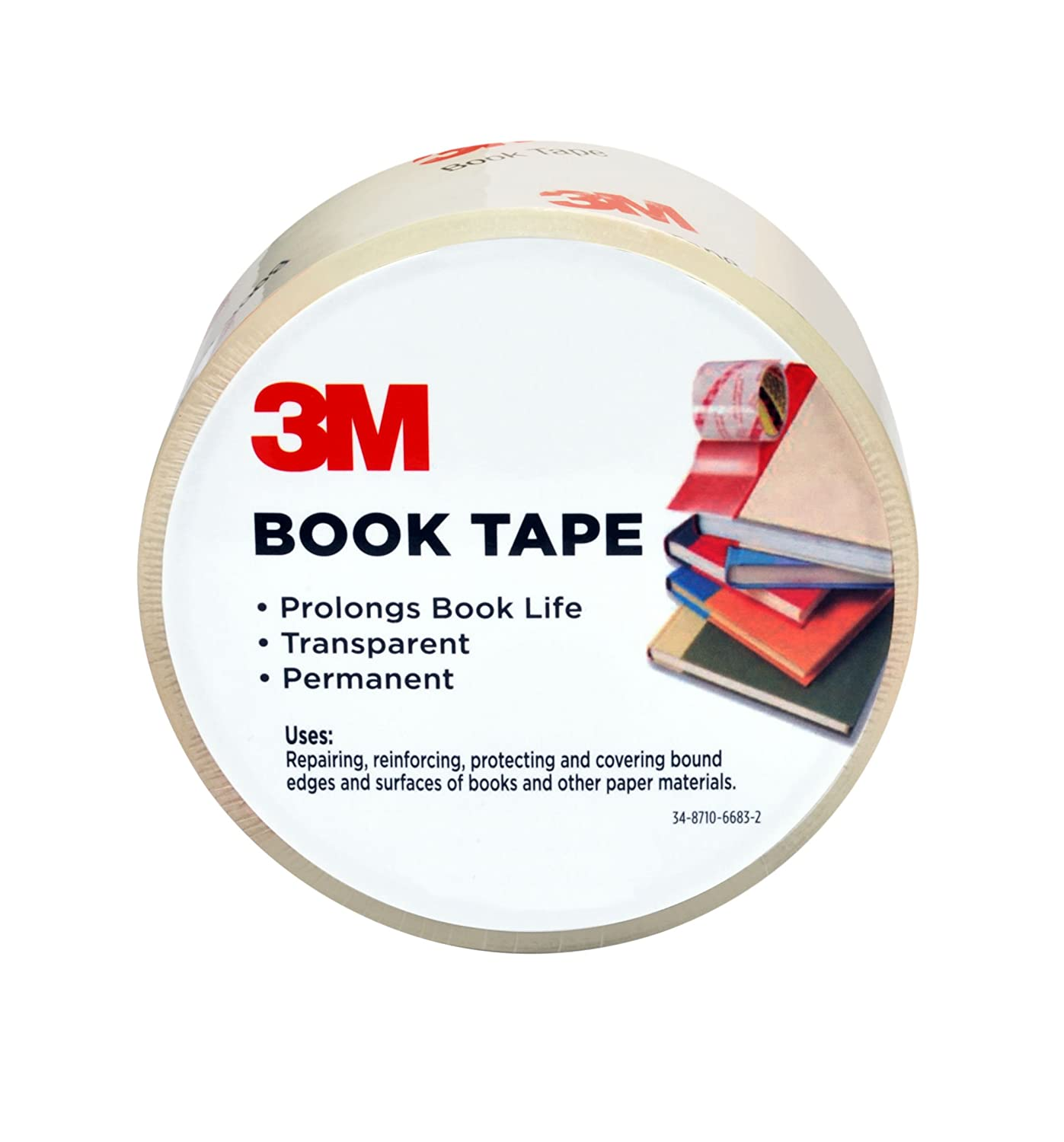 Scotch Book Tape, 2.83 in. x 30 yd., 1 Roll/Pack 3M Office Products 843