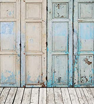 Amazon.com : Generic Old Style Oil Painting Vintage Wooden Door ...