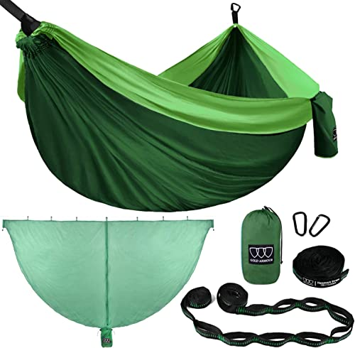 Gold Armour Camping Hammock and Mosquito Bug Net Set